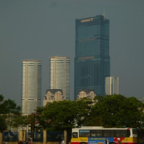 Bei jedem Besuch ein neuer Wolkenkratzer: Skyline Hanoi